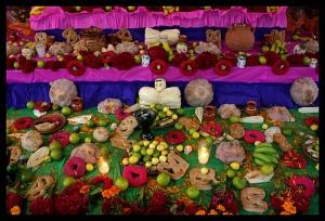 Ofrendas Dia de Muertos Centro de Xochimilco